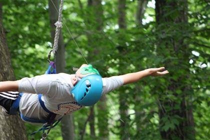 Fly high on our ropes course!