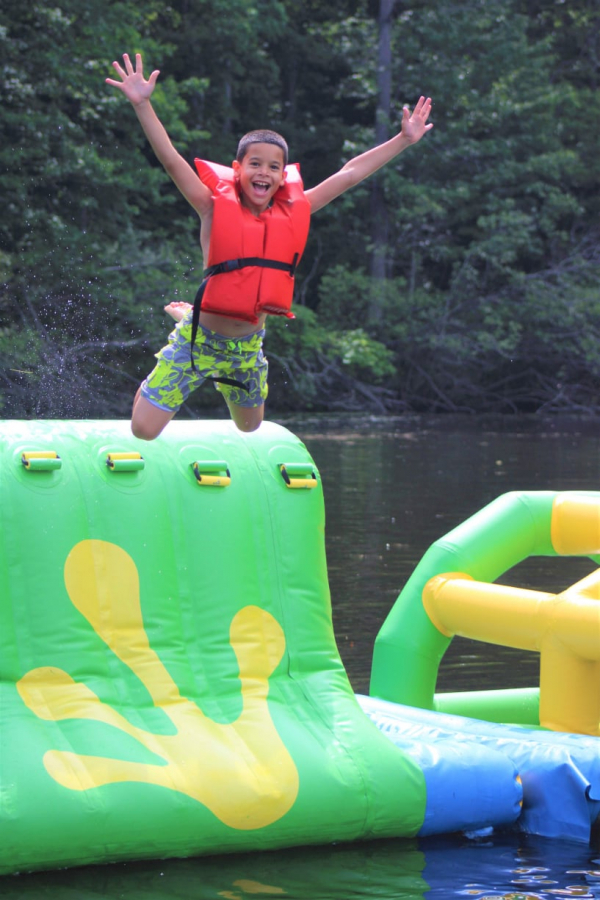 Jump around on our lake inflatables!